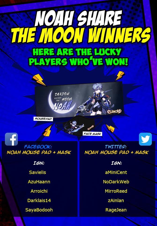 Noah Winners list