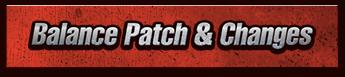 Balance Patch & Changes